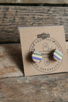 Layered Wooden Stud Earrings