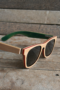 Black, Green and Red Polarized wooden sunglasses