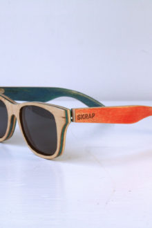Sunglasses - Orange and Blue Polarized wooden sunglasses