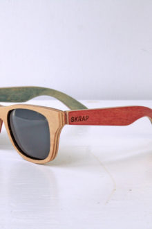 Sunglasses - Red and Blue Polarized wooden sunglasses