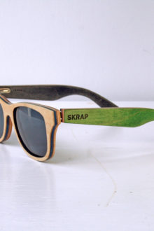 Sunglasses - Green and Black Polarized wooden sunglasses