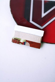 White and Brown Snowboard Wallet