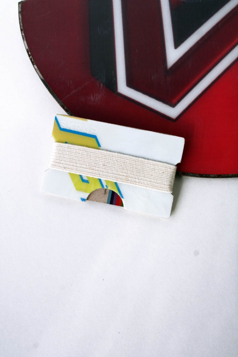 Snowboard Wallet (White, Yellow and Blue)