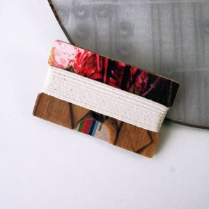Snowboard Wallet (Red, Black and Brown)