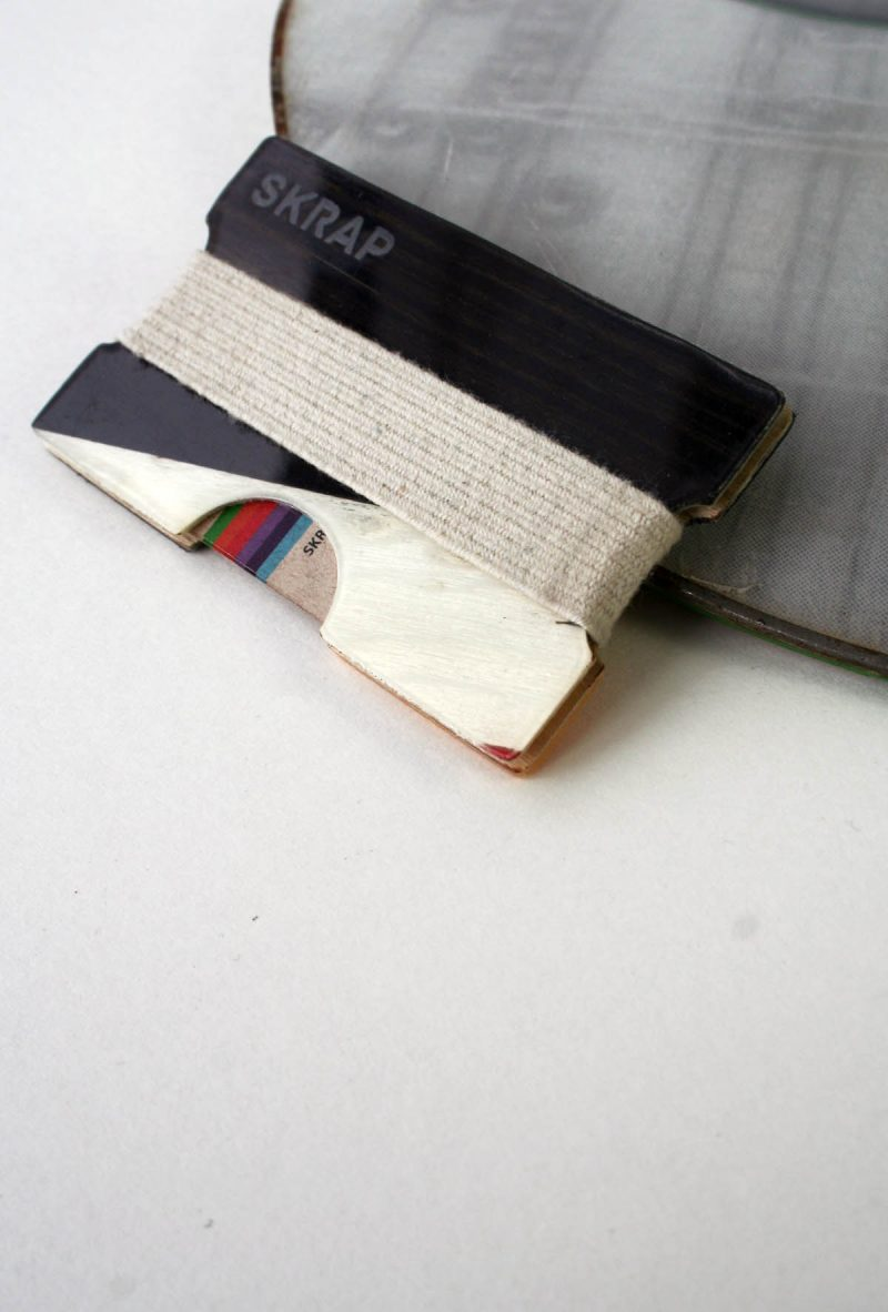 Snowboard Wallet (White and Black)