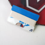 Blue and White Snowboard Wallet