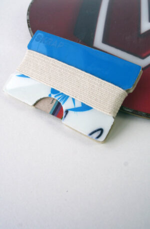 Snowboard Wallet (Blue & White)