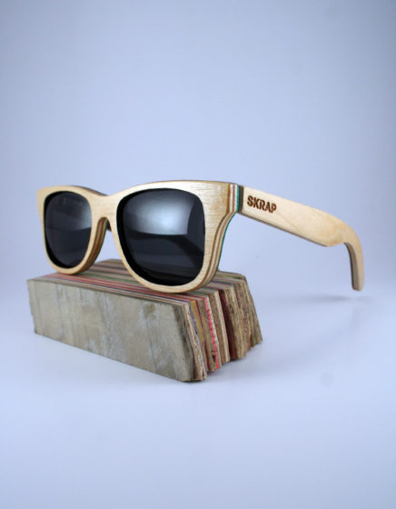 Sunglasses made from Recycled Skateboard