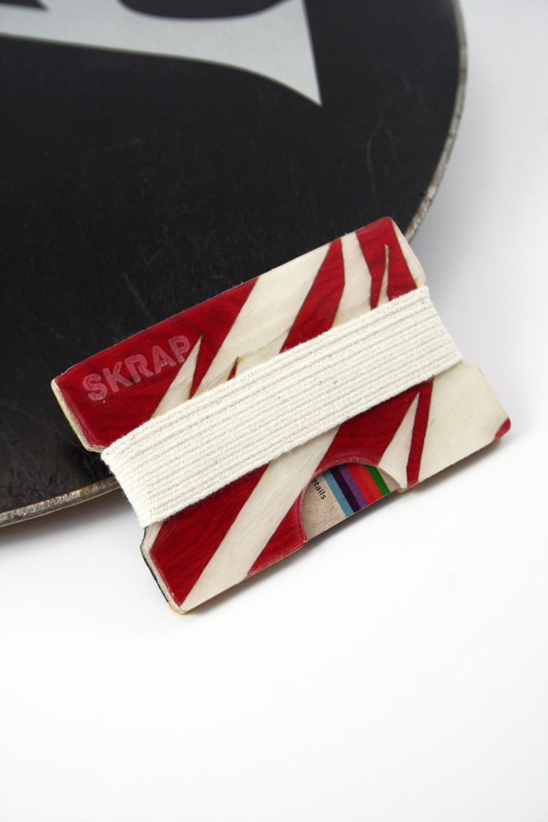 Snowboard Wallet (Red and White)