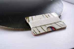 Snowboard Wallet (Green Stripes)
