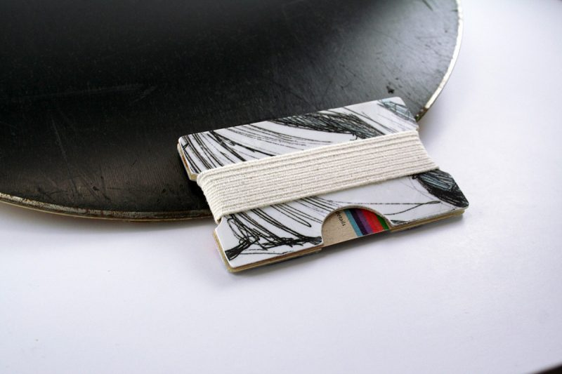 Snowboard Wallet (Black Stripes)