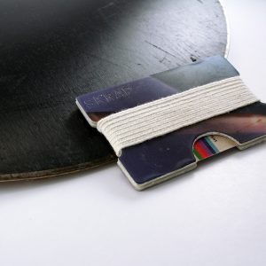 Snowboard Wallet (Black and Purple)