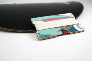 Snowboard Wallet (Cyan and Maroon)