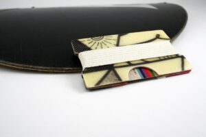 Snowboard Wallet (Natural and Black)