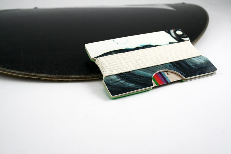 Snowboard Wallet (Cyan, black and white)