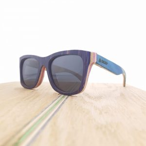 Recycled Wooden Skateboard Sunglasses (Purple frames)