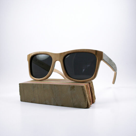Recycled Wooden Skateboard Sunglasses (Green)