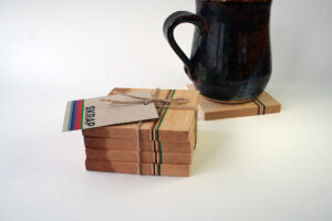 Maple Coasters with Skateboard inlay