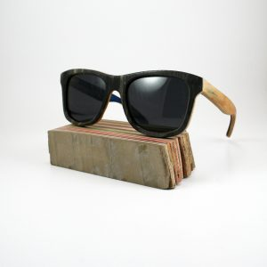 Recycled Wooden Skateboard Sunglasses (Black)