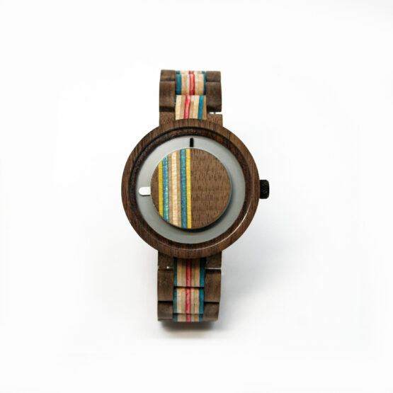 Wooden watches with Skateboard accent