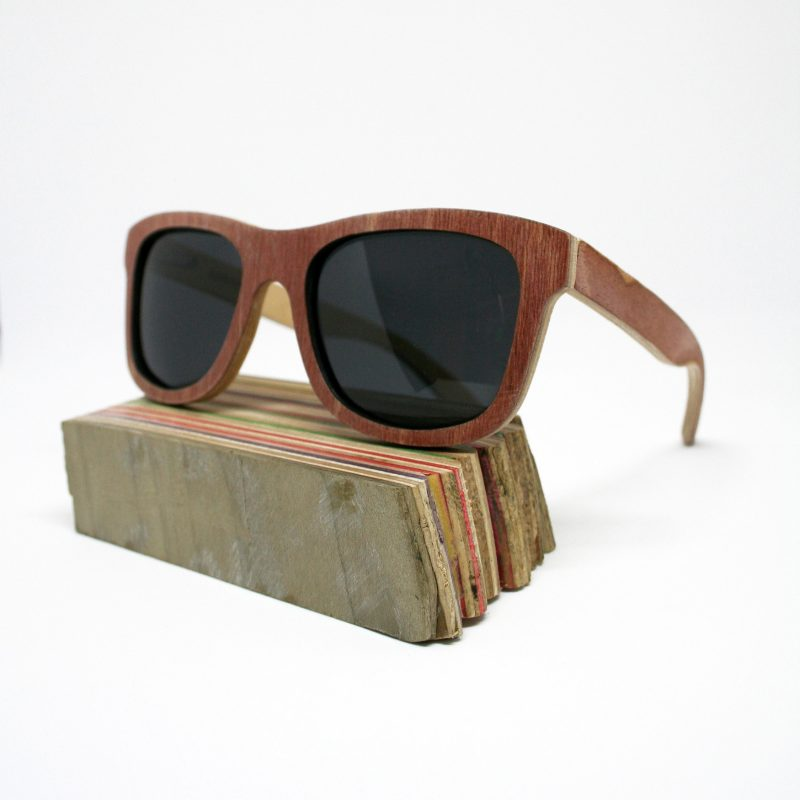 Recycled Wooden Skateboard Sunglasses