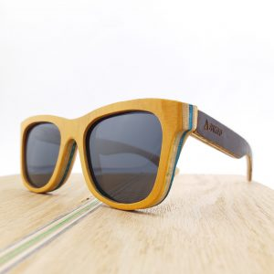 Recycled Wooden Skateboard Sunglasses (Yellow)