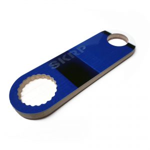 Bottle Opener – made from recycled snowboards (dark blue)