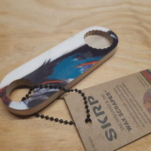 Bottle Opener – made from recycled snowboards (Blue, White, Red)