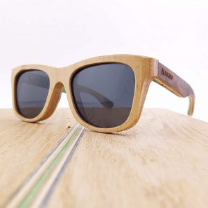 Recycled Wooden Skateboard Sunglasses (Natural Maple frames)