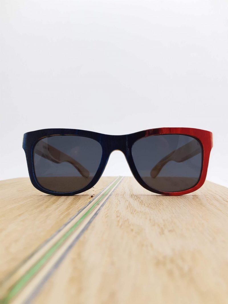 Recycled Wooden Skateboard Sunglasses (Multi-colored frames)