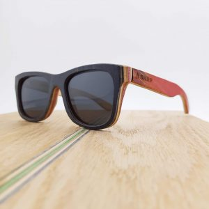 Recycled Wooden Skateboard Sunglasses (Dark frames)