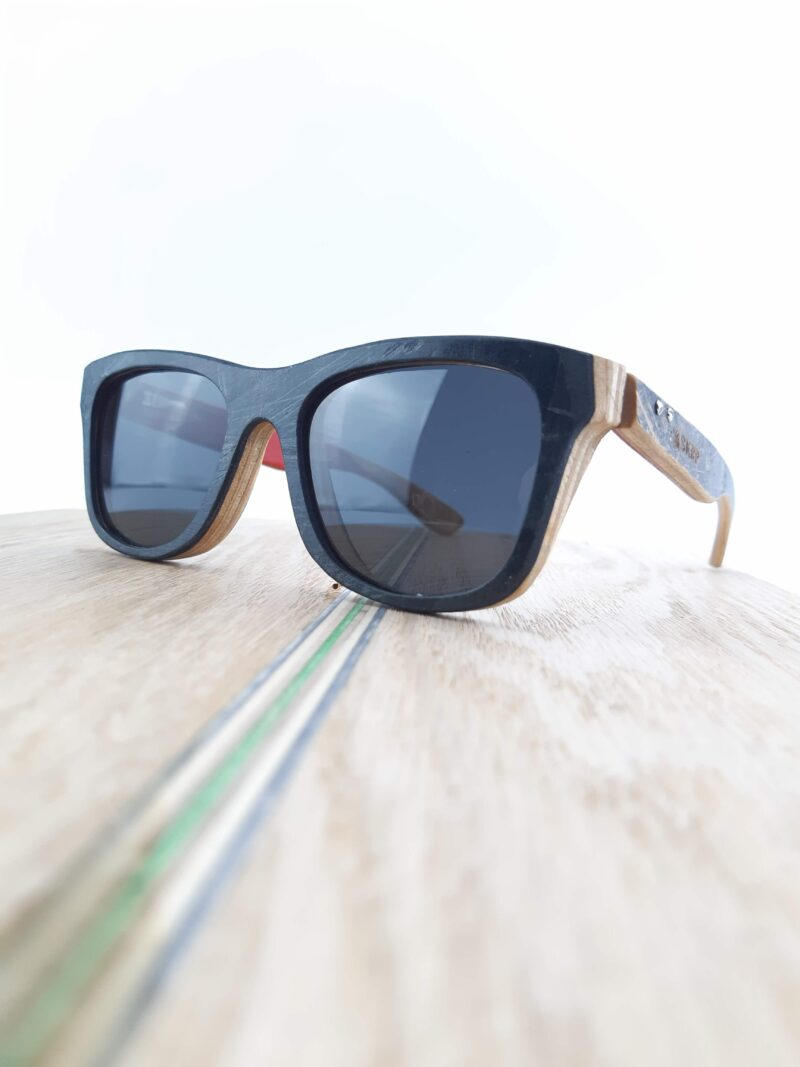 Recycled Wooden Skateboard Sunglasses (Graphic)