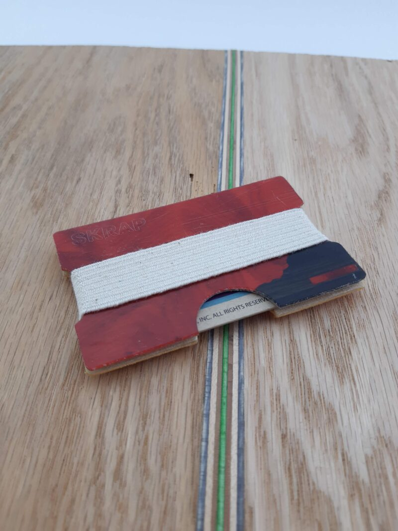 Snowboard Wallet (Red and Black)