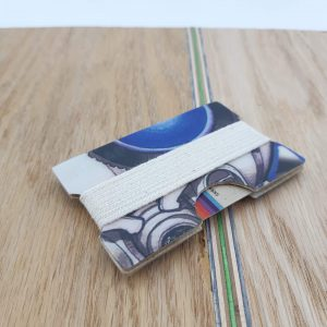 Snowboard Wallet (blue and white)