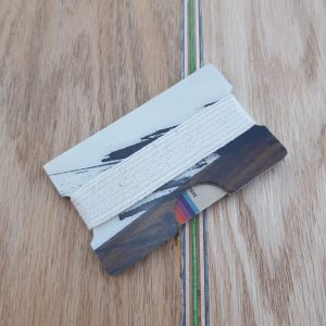 Snowboard Wallet (Whites and Dark Browns)