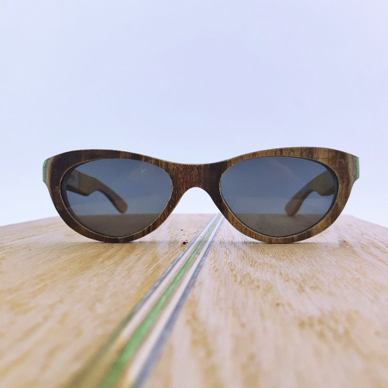 Recycled Wooden Skateboard Sunglasses (blinder style)