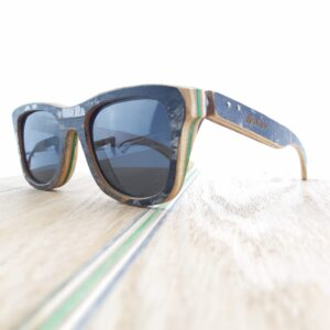 Recycled Wooden Skateboard Sunglasses (Graphic black and green)