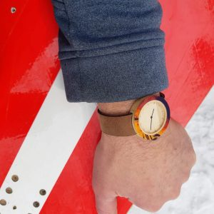 Recycled Wooden Snowboard Watch #madeincanada