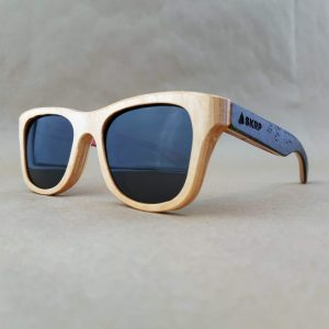 Recycled Wooden Skateboard Sunglasses (Black Temples)