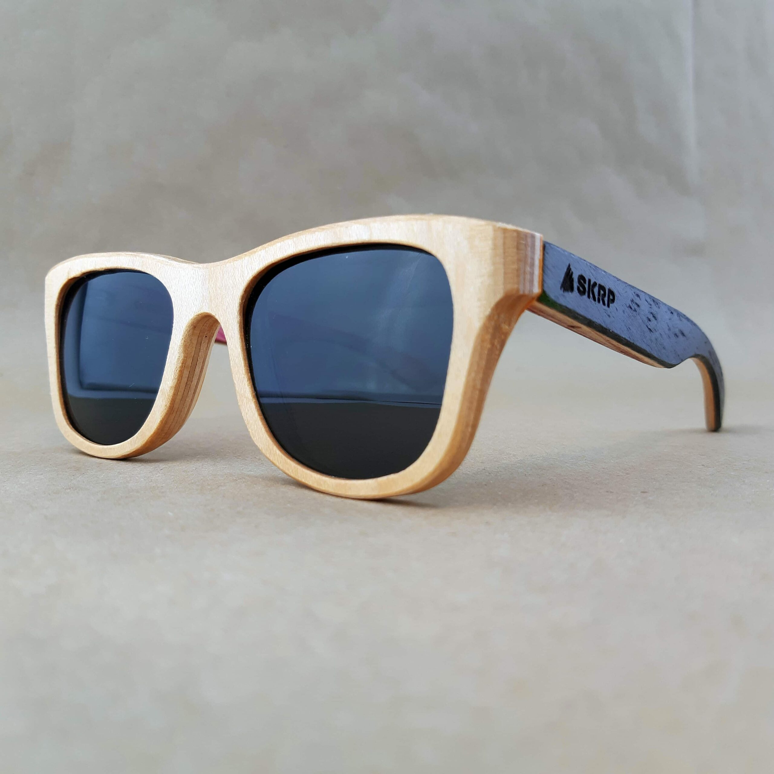 Natural Maple Recycled Skateboard Sunglasses