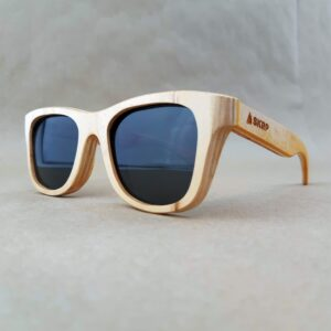 Recycled Wooden Skateboard Sunglasses (Yellow Temples)