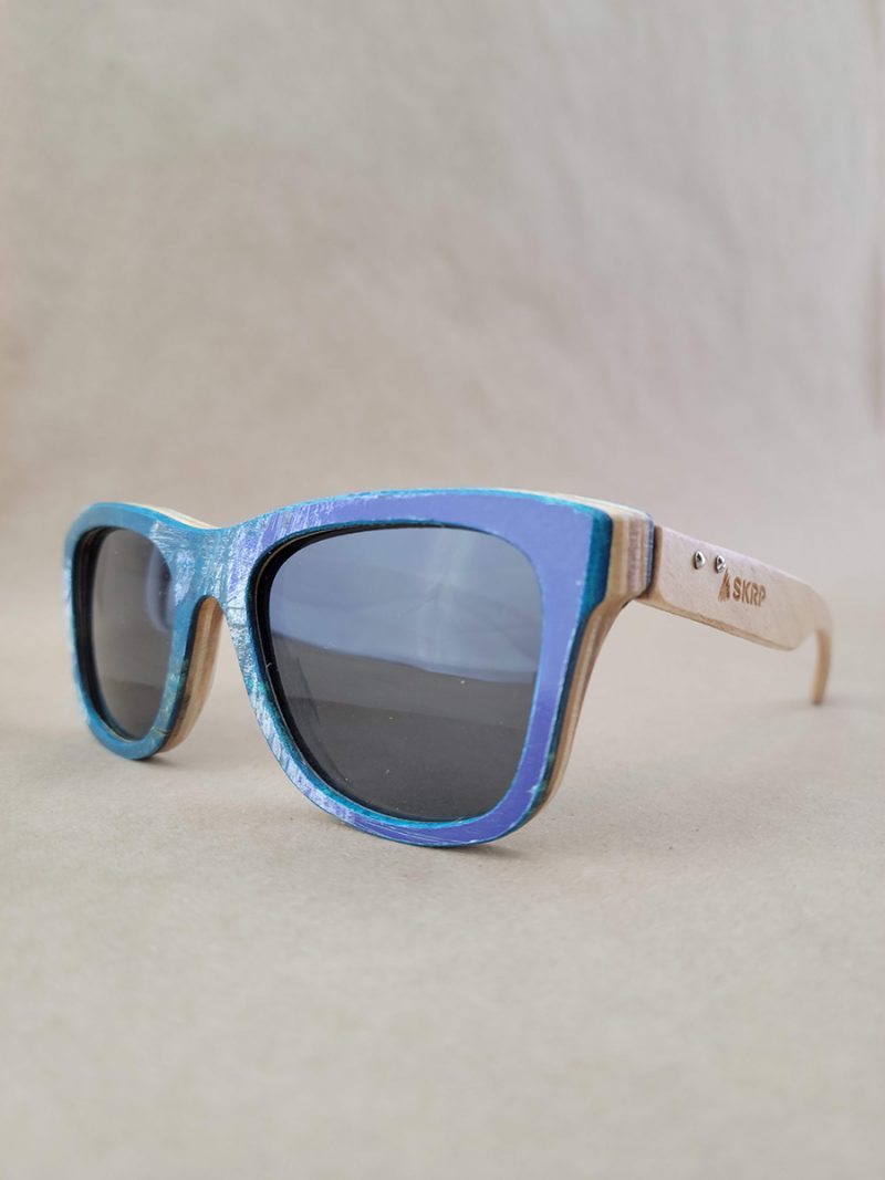Recycled Wooden Skateboard Sunglasses (Graphics)