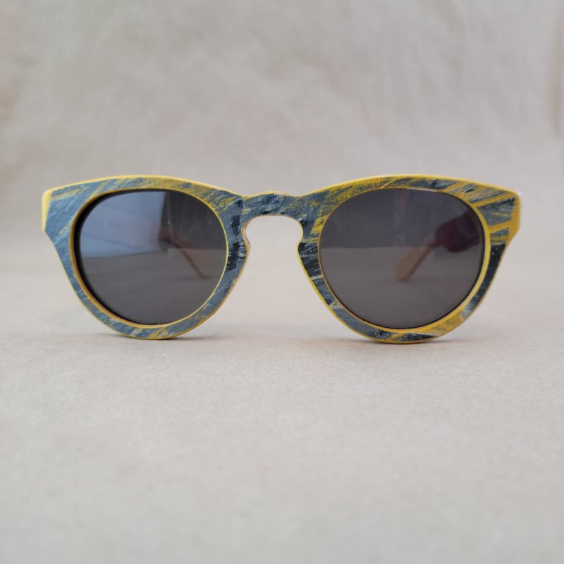 Recycled Wooden Skateboard Sunglasses (Rounded Lens Styles)